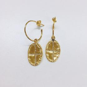 Louise Hendricks  BAZILE 系列水晶十字造型耳环