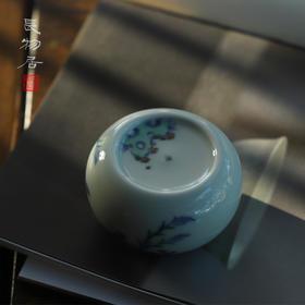 长物居 手工陶瓷斗彩花卉纹书镇