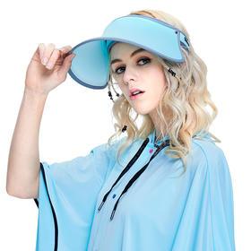 VVC夏季遮阳帽子女夏天防紫外线防晒沙滩帽可折叠户外骑车女神太阳帽 成人款