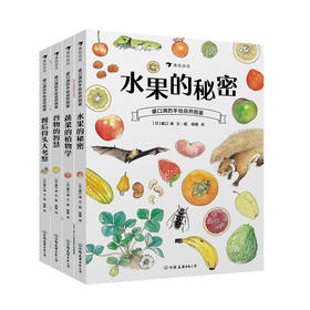 盛口满的手绘自然图鉴系列全四册:水果的秘密+蔬菜的植物学+谷物的智慧+餐后骨头大考察