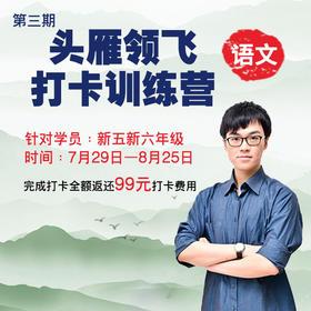 【暑期新五、新六年级】第3期语文头雁领飞打卡训练营