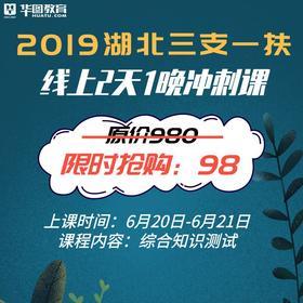 2019湖北三支一扶2天线上冲刺课