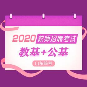 2020年教招山东班:教基+公基