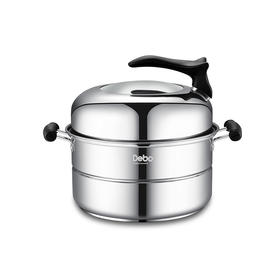 【精选】德铂蒸食304不锈钢锅 | 健康安全 防刮耐磨 | 单层【厨房用品】
