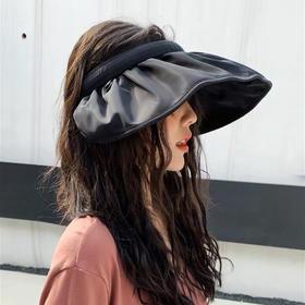 【发箍秒变遮阳帽】发夹式空顶大檐防晒帽 可卷起佩戴 方便易携带 少女感满满