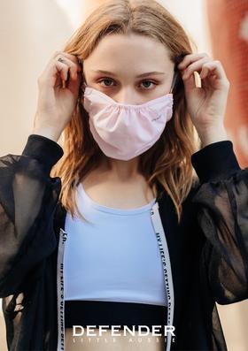 澳洲DEFENDER防晒口罩女夏季薄款防尘透气可清洗防紫外线遮阳面罩