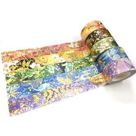 和纸胶带-烫镭射金胶带系列 和风元素5款手帐装饰素材整卷20mm by白冬