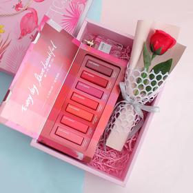 「口红套装+香水+玫瑰花礼盒」超走心的浪漫惊喜 满足她的少女心 给她超暖心的礼物 520送女朋友圣诞节七夕情人节礼品套装