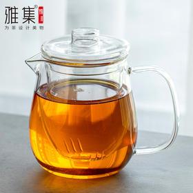 雅集茶具轻空水滴耐热玻璃过滤泡茶壶 茶水分离简易泡茶器具泡茶壶