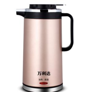 【小家电】 双层保温防烫电热水壶电快速烧水壶304不锈钢电茶壶