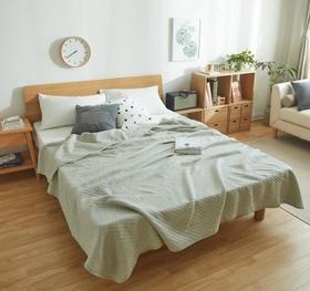 【家纺】.针织棉纯色夏被全棉空调被天竺棉新疆棉绗缝薄被子