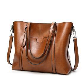 欧美时尚女士手提包单肩托特包    69+90积分