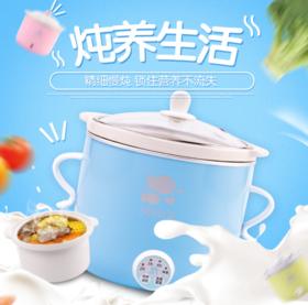 【小家电】厨房小家电煮粥煲汤全自动保温电炖锅白瓷电炖煲慢炖锅