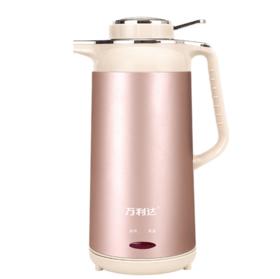 【小家电】 不锈钢电热水壶小家电水壶双层保温热水壶快速烧水壶