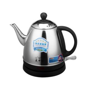 【小家电】 不锈钢电热水壶 0.8L小家电热水壶 优质安全家用小热水壶