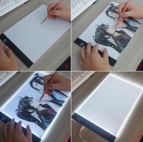 【办公文教】 小A4led拷贝台 便携式儿童绘画板拷贝板发光板