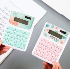 【办公文教】卡通多用桌面用品办公文教计算器  麦和 香草菠萝台式计算器