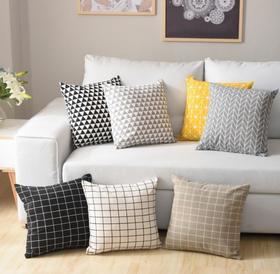 【家纺】.北欧棉麻沙发抱枕靠垫腰靠抱枕套床上用品枕套家纺靠枕抱枕芯