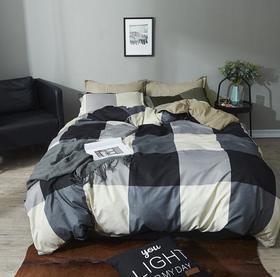 【家纺】.床上用品磨毛四件套三件套简约现代家纺批发床单被套