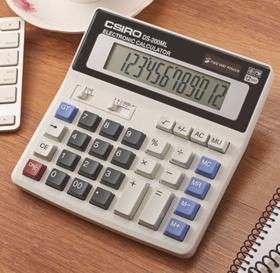 【办公文教】CSIRO卡西罗大屏大按键12位财务用计算器ds-200ML办公计算机