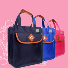 【办公文教】儿童补习袋手提斜跨包 男孩女生中小学生 书包补课袋