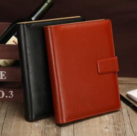 【办公文教】PU皮面办公文教笔记本 B5商务搭扣笔记本企业a5活页本子
