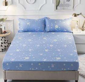 【家纺】.防水床笠印花防尘床罩床垫套席梦思保护套家纺床品