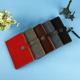 【办公文教】 生产仿牛皮带磁扣办公文教会议记事本