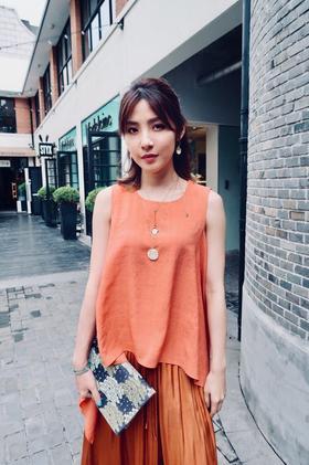MAISON COVET 橘色无袖衬衫