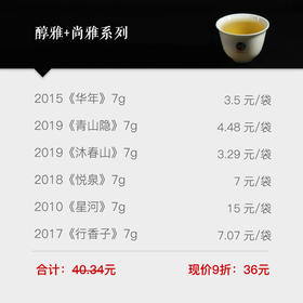 【茶样礼包9折优惠】南茗佳人醇雅+尚雅系列茶样礼包 42g