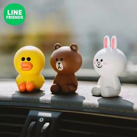 【萌趣可爱芳香随行】linefriends车载香水丛林小猪布朗熊