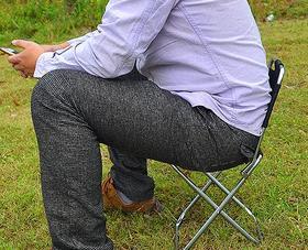 铝合金便携折叠靠背椅  48+70积分