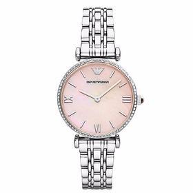 ARMANI/阿玛尼 女士手表粉色表盘时尚潮流石英腕表 AR1779