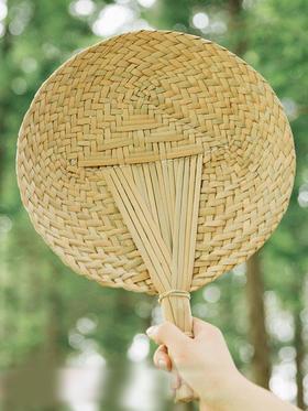 摩登主妇环保夏天逍遥扇风量大蒲草扇子手工蒲扇纳凉扇草编工艺