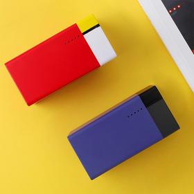小与蒙德里安艺术超级充丨颜值爆表丨充电器充电宝二合一丨小巧便携