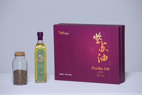 寿香坊冷压初榨一级紫苏油 450ml*2瓶礼盒装