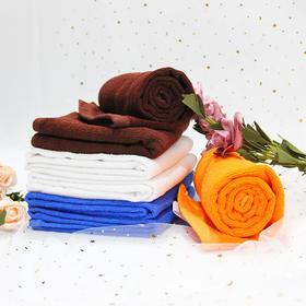 【美丽芭芭纯棉毛巾】白色橙色咖啡宝蓝100g120g