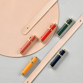 小时光牛皮便携钢笔 | 头层牛皮,高颜值有质感,书写流畅,送礼好物