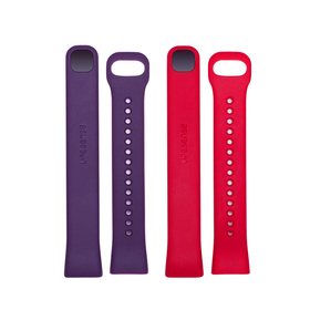 乐心手环5腕带  双色套装(紫色+红色)