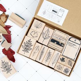 物历小印丨博物学家的印章 叶子 木质手帐工具