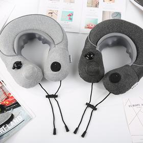 「充电式多种按摩方式 | 无线携带」充电式空气颈部按摩枕 颈枕 旅行用品 按摩枕