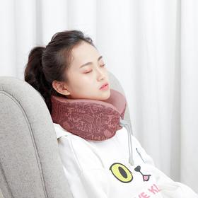 乐范按摩助眠颈枕 颈部按摩枕 电动多功能旅行枕 减压按摩 收纳自如 随身便携