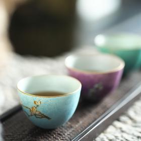 生活×长物居 观味扒花粉彩花卉手工杯 (景德镇顺丰发货)