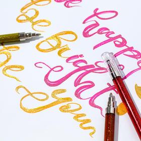 彩色手帐笔女生高光中性笔8色水彩笔记号笔手账勾线