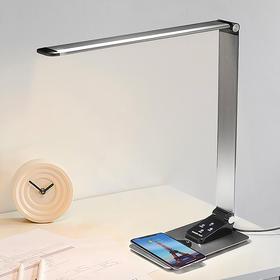 保视力led台灯护眼灯书桌iphone8XR华为小米三星智能手机无线充电