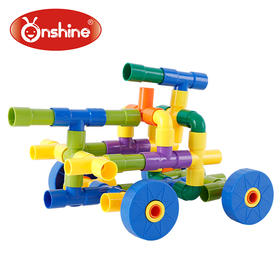 儿童玩具72片益智拼插拼装式管道积木 适合3岁以上