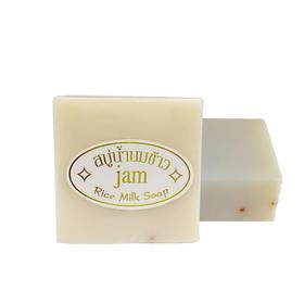 泰国JAM手工大米香皂纯正天然香米洁面皂洗手洗脸清洁沐浴香皂 60g/块