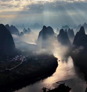 【中国山水画】桂林+阳朔+漓江+相公山+大面山+百里画廊之旅