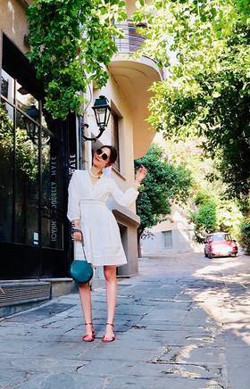 MAISON COVET   白色镂空棉连衣裙