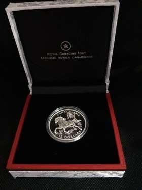 2014加拿大生肖马年15加元1盎司银币
